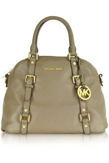 Michael Kors Bedford Genuine Leather Bowling Satchel Bag - Lyst