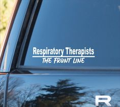 Excited to share this item from my shop: Respiratory Therapist The Front Line vinyl decal, Respiratory Therapist sticker, RT decal, RT sticker, Respiratory Therapist car sticker Car Stickers, Car Decals, Vinyl Decals, Camping Life, Rv Life, Motorcycle Decals, Types Of Organisation, Sports Decals, Auto Glass