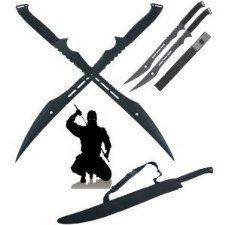 Double Ninja Swords http://zombieapocalypse.cybermarket24.com/zombie-outbreak-weapons/zombie-hunter-swords/double-ninja-swords-with-sheath/