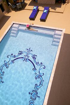 Scroll Design By Artistry In Mosaics | Add Elegance To Your Pool With  Custom Mosaic Tile