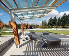 Folded Tables and Chairs | Wilsonville Park Shelters