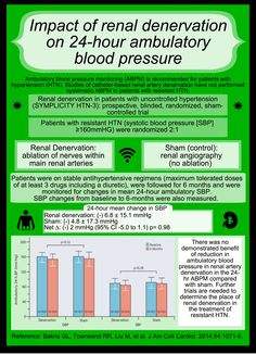 Renal denervation and 24 hour BP