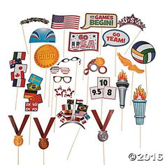 Award Photo Stick Props Diy Photo Booth, Photo Props, Camera Aesthetic, Game Stick, International Games, Fun Express, Game Costumes, Oriental Trading, Party Themes