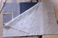 初心者でも簡単!型紙なしレッスンバッグ(絵本&図書バッグ)と上履き入れの作り方☆切り替えとマチ付きのシンプルデザインで男の子でも女の子でもOK![裁断イメージ無料ダウンロード] | ひらめき工作室 Sewing Leather, Patchwork Bags, Learn To Sew, Sewing Patterns Free, Handmade Bags, Diy And Crafts, Sewing Projects, Tote Bag, Handmade Fabric Bags