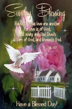 Love One Another, Have A Blessed Day, Country Girls, Blessings, Motivational Quotes, Sunday, Let It Be, God, Dios