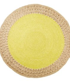 JULES CROCHET RUG – CHARTREUSE | Six By Eight | Store
