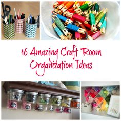 Give your craft room some organization love with therse 16 Amazing Craft Room Organization Ideas. Craft Paper Storage, Sewing Room Storage, Storage Room Organization, Organization Ideas, Storage Ideas, Diy Home Crafts, Fun Crafts, Craft Supplies, Diy Projects