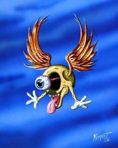 Kentreppert.com Facebook.com/kentreppert Eyeball, flying eye ball, hotrod art, horror art