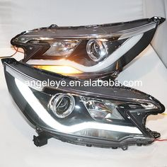 2012-2014 year For HONDA for CRV Strip LED Front Lamp Headlights with Bi Xenon Projector Lens V2 YZ