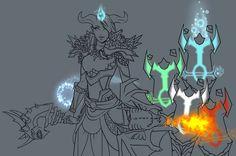 WoW character in progress... | da vanyrei