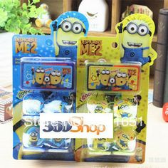 Free shipping 2set/lot  1set include 4pcs stamp+ 1pcs inkpad Despicable Me stamp set very funny children toy  $9.90