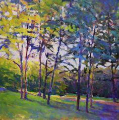Ken Elliott Trees in Half Shade 36 x 36 inches