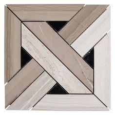 Valentino Parquet Marble Mosaic - 12 x 12 - 100246073 Marble Mosaic, Mosaic Tiles, Tiling, Parquet Tiles, Polished Porcelain Tiles, Unique Tile, Bath Tiles, Luxury Vinyl Plank, Decorative Tile