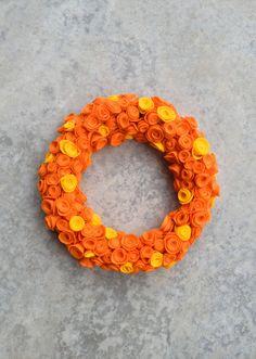 Post image for Fall Rosette Wreath