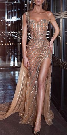 Evening Dresses Sexy sling tube top beaded high slim drag maxi dress, you will be the brightest star in the party or any occasion, vari. Elegant Dresses, Sexy Dresses, Prom Dresses, Formal Dresses, Glamour Dresses, Beaded Dresses, Slit Dress, The Dress, Gold Wedding Gowns