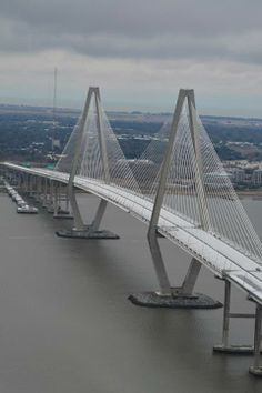 Ravenel Bridge — in Charleston, SC on January 29, 2014 - Closed due to snow & ice