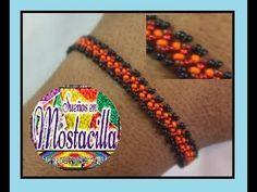 PULSERA EN MOSTACILLA A UN GIRO // NUEVO - YouTube Friendship Bracelets, Jewels, Beads, Videos, Places, Braided Bracelets, Home, Knot Bracelets, Bracelets
