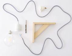 DIY: a minimalist suspension Black Confetti, Deco, Diy Lamp Shade, Diy Design, Interior Design Trends, Diy Déco, Todo Diy, Home Deco, Trending Decor