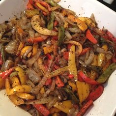 Sausage & Peppers... Yummy Football Food (