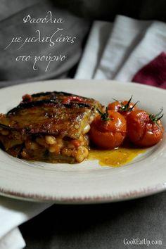 fasolia me melitzanes Vegan Vegetarian, Vegetarian Recipes, Cooking Recipes, Arabic Food, Nutrition Guide, Bean Recipes, Greek Recipes, Food Hacks, Food Tips