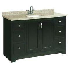 Ventura 48 In. W X 21 In. D Vanity Cabinet Only In Espresso