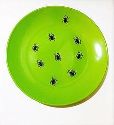 Spider Decorative Plate Gothic Party Decor  by MaidenLongIsland