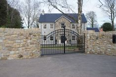 Donegal & Omagh Sandstone with Sandstone Window & Door Surrounds - Coolestone Stone Importers Suppliers Masonry Tyrone Northern Ireland Stone Cladding Exterior, Stone Exterior Houses, Bungalow Exterior, Limestone House, Limestone Paving, House Designs Ireland, Stone Porches, Beach House Tour, Saltbox Houses