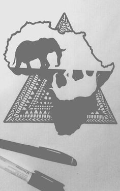Just a quick sketch of an African tattoo design