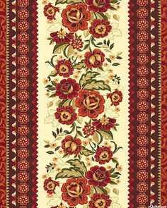 Timeless Treasures Tree Of Life Eden Border Stripe Spice