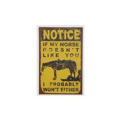 BEWARE I RIDE HORSES- Rustic distressed typography wood sign, Farm... ❤ liked on Polyvore featuring home, home decor, wall art, horse barn signs, quote wall art, wood signs, wooden wall art and wooden signs