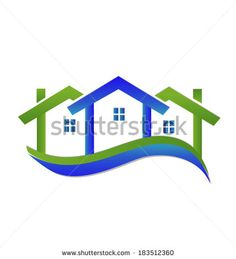 Real estate houses vector icon - stock vector