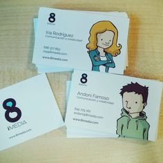 Imagen de marca, ilustracion y tarjetas de visitas para 8iMedia.