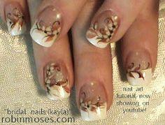 beautiful wedding nail art with tutorial  www.youtube.com/watch?v=65wwty25KmE