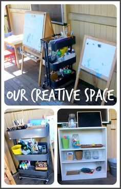 Purging. Simplifying. Organising. Creating. As part of the 30 Days to Transform Your Play series with myself and Kate from An Everyday Story, I'm culling play materials and re-designing our play spaces. I thought I would share our newly organised Creative Space: Set up on our front verandah, our creative space has tables to create …