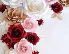 Papel flores - boda flores de papel - papel flores - boda flor Wall - papel flor fondo
