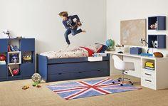 Alfombra British http://www.mamidecora.com/habitaciones-infantiles-estilo-british.html
