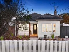133 Roberts Street, Yarraville, Vic View property details and sold price of 133 Roberts Street & other properties in Yarraville, Vic Exterior Paint Colors For House, Exterior Colors, Exterior Design, Bungalow Exterior, Modern Farmhouse Exterior, House Cladding, Facade House, Weatherboard Exterior, Home Exterior Makeover