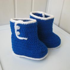 Slippers knit booties Baby Shoes Crochet Boots Children Gift baby blue... (€11) ❤ liked on Polyvore featuring crochet