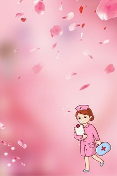 512 Día De La Enfermera Encuentro Fondo Romántico Rosa