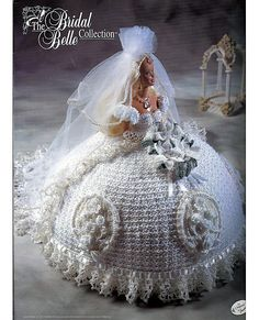 Crochet Toy Barbie Clothes Bridal Belle Lily Bride Dress For Barbie Doll Crochet Pattern 30 Days To Pay - Doll Sewing Patterns, Doll Clothes Patterns, Clothing Patterns, Crochet Patterns, Barbie Wedding Dress, Barbie Dress, Wedding Dresses, Modest Wedding, Crochet Barbie Clothes