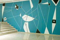 This is Athos Bulcão mural of the Brasilia Palace Hotel. The late 50's graphic is delightfully geometrical.