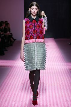 """Mary Katrantzou contrasts Modernist shapes with """"horror vacui"""" details for Autumn Winter 2015"""