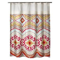 Cut off the top, add some red and yellow fabric (probably silk) cut them in half and Voila! Curtain panels! Boho Boutique™? Utopia Shower Curtain - 72x72""