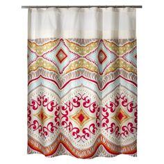 Boho shower curtain