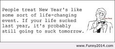 Funny new year with quote