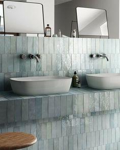 Zellige Aqua Blue Moroccan Wall Tiles x Moroccan Wall Tiles, Turkish Tiles, Portuguese Tiles, Moroccan Bathroom, Wc Decoration, Casa Top, Br House, Blue Tiles, Blue Bathroom Tiles