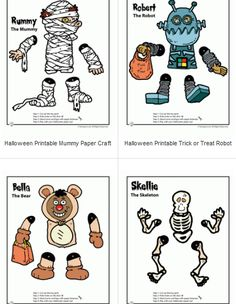 printable halloween paper craft print free toys kids decorations preschool