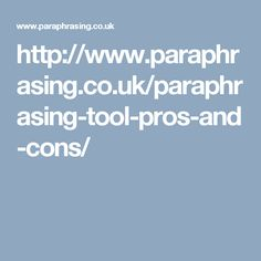 Paraphrasing tool is not a customized solution and works over certain algorithms that primarily rely on using synonyms.