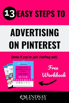 13 Ways to Advertise on Pinterest | Global SEO Expert Lindsay Shearer Mail Marketing, Social Media Marketing, Digital Marketing, Marketing Strategies, Marketing Tools, Pinterest Advertising, Pinterest Marketing, Starting Your Own Business