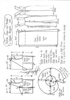 Vestido longo com fenda e babado no decote – DIY – molde, corte e costura – Marlene Mukai